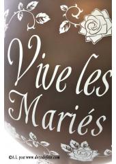1 ballon GEANT 90cm Vive les Mariés chocolat