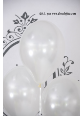 8 ballons blanc nacré