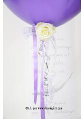 1 ballon GEANT 90cm violet pourpre nacré