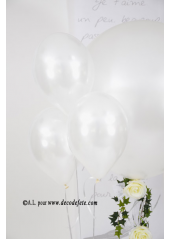 1 ballon GEANT 90cm blanc nacré