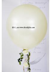 1 ballon GEANT 90cm ivoire nacré