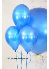 1 ballon GEANT 90cm bleu roy nacré
