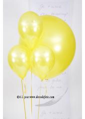 1 ballon GEANT 90cm jaune nacré