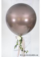 1 ballon GEANT 90cm chocolat nacré