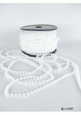 30m guirlande de perles blanche. Black Bedroom Furniture Sets. Home Design Ideas