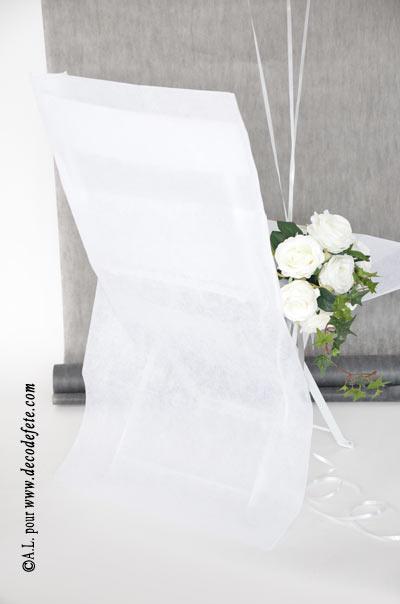 6 noeuds blanc pour housse de chaise - Housse de chaise blanc ...