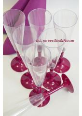 10 Flutes à champagne aubergine