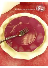 10 Assiettes à dessert fleur bordeaux