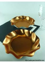 10 Coupelles cuivre