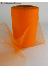20M Tulle déco orange