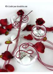 1 Coeur transparent 6,5 cm