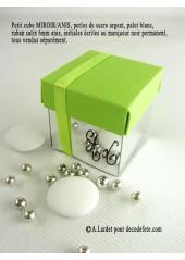10 petits cubes MIROIR & ANIS
