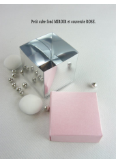 10 petits cubes MIROIR & ROSE