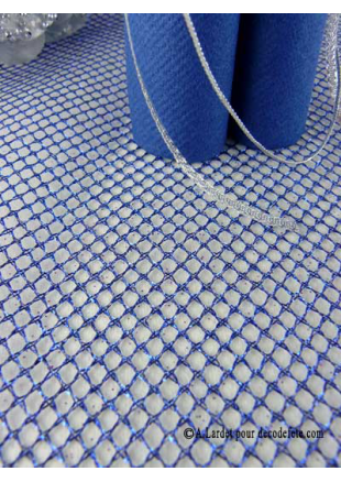 5m chemin de table resille bleu roy for Chemin de table bleu
