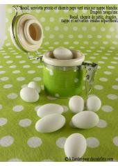 1 petit bocal peps vert anis