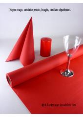 10M Nappe jetable presto rouge