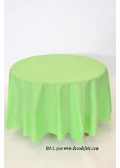1 Nappe presto ronde jetable vert pomme/pistache