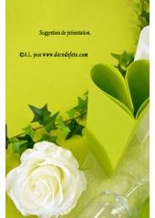 1 Nappe presto ronde jetable anis/kiwi