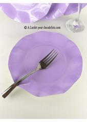 10 Assiettes à dessert fleur parme