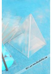 10 Mini Pyramides transparentes