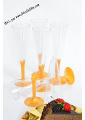 10 Flutes à champagne or