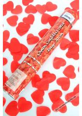 1 canon à confettis coeur rouge 40cm