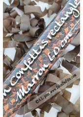 1 canon à confettis rectangle chocolat 60cm
