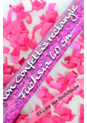 1 canon à confettis rectangle fushia 60cm