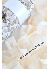 1 canon à confettis rectangle blanc 30cm