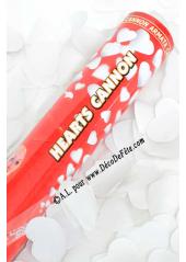1 canon à confettis coeur blanc 40cm