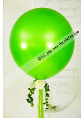 1 ballon GEANT 90cm vert pomme nacré