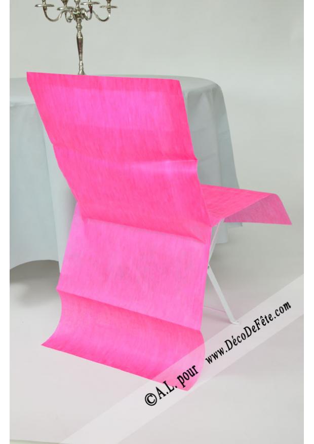 6 housses de chaise fushia for Housses de chaises en tissu