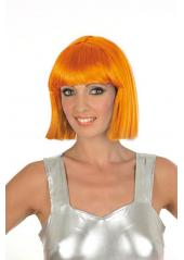 1 Perruque Crazy orange fluo
