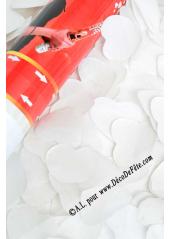 1 canon à confettis coeur blanc 60cm