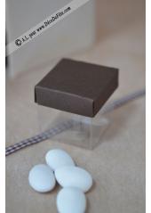 10 petits cubes transparent et chocolat