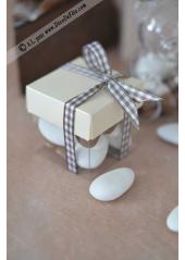 10 petits cubes transparent et ivoire
