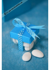 10 petits cubes transparent et turquoise