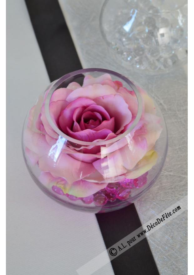 1 vase boule verre 13cm. Black Bedroom Furniture Sets. Home Design Ideas