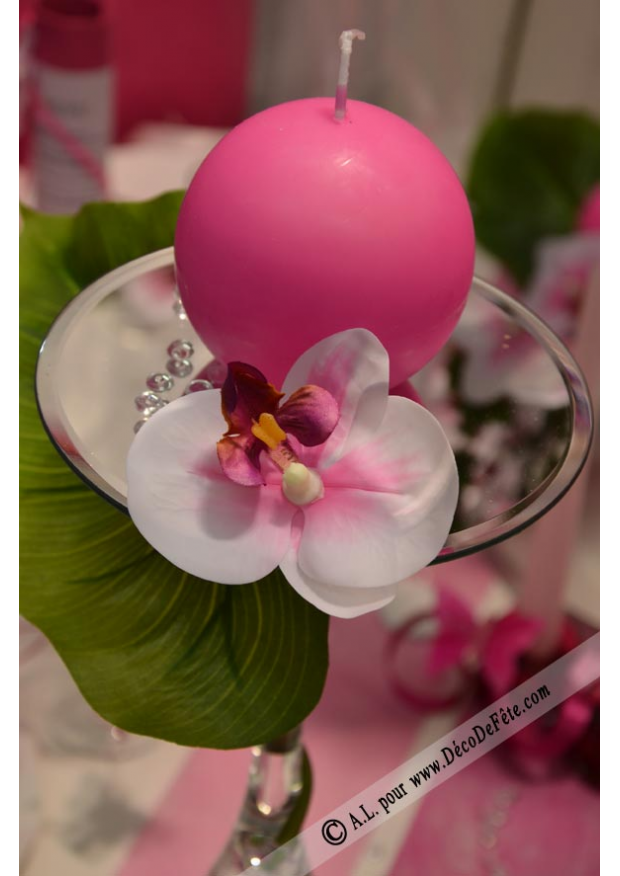 8 fleurs orchid es fushia fleurs artificielles d co. Black Bedroom Furniture Sets. Home Design Ideas