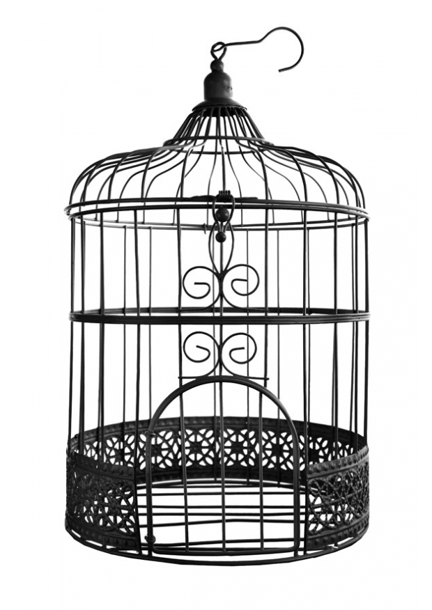 1 cage a oiseaux noire 31cm. Black Bedroom Furniture Sets. Home Design Ideas