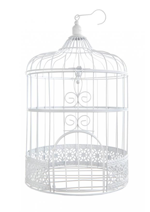 1 cage a oiseaux blanc 31cm. Black Bedroom Furniture Sets. Home Design Ideas