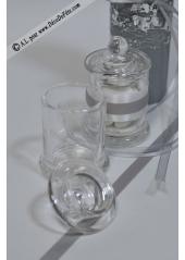 1 bonbonnière verre 9cm