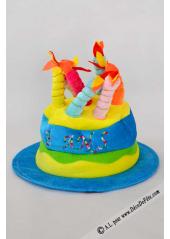 1 Chapeau bougies anniversaire 18 ans turquoise