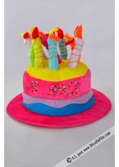 1 Chapeau bougies anniversaire 18 ans fushia