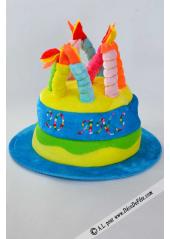 1 Chapeau bougies anniversaire 20 ans turquoise