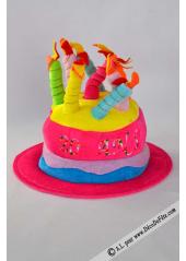1 Chapeau bougies anniversaire 20 ans fushia