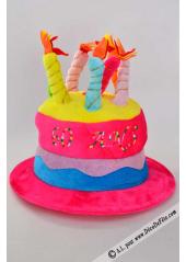 1 Chapeau bougies anniversaire 60 ans fushia