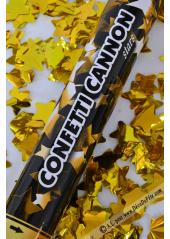 1 Canon à confettis ETOILES or 40cm