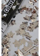 1 Canon à confettis ETOILES argent 60cm