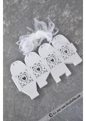 20 Boites carton coeur